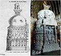 19th century sketch and 21st century photo collage, Cave 26 Ajanta, Digoba Stupa.jpg