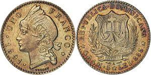 Dominican peso - Image: 1 franco