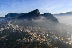 Aerial photo of Vidigal