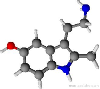 2-Methyl-5-hydroxytryptamine - Image: 2 Methyl 5 hydroxytryptamine 2