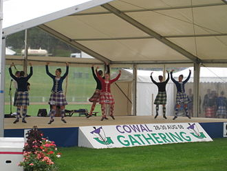 Scottish highland dance - Highland Dancers compete at the Cowal Highland Gathering 2008