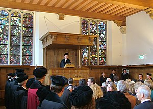 Leiden University - A new professor's inauguration lecture in the Academiegebouw, 2008