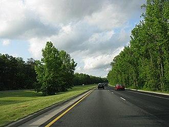 Baltimore–Washington Parkway - Northbound Baltimore–Washington Parkway between Powder Mill Road and MD197
