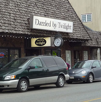 Twilight (novel series) - A store catering to tourists interested in the Twilight series in Forks, Washington.
