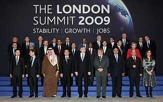 2009 G20 London summit - Leaders of the G20 countries present at the London Summit (taken before the proceedings on 2 April 2009).