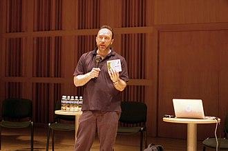 Wikimania - Jimmy Wales gives the keynote address at Gdańsk