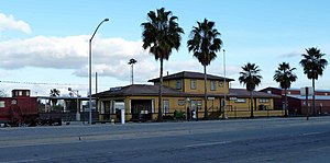 Shafter, California - The Shafter Depot Museum is housed within the old Santa Fe Passenger and Freight Depot.
