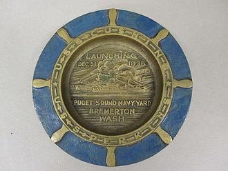 Ashtray - Commemorative, decorative ashtray manufactured 1935 (photo 2011)