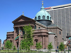 Napoleon LeBrun - Cathedral-Basilica of Sts. Peter and Paul (1846-64) in Philadelphia