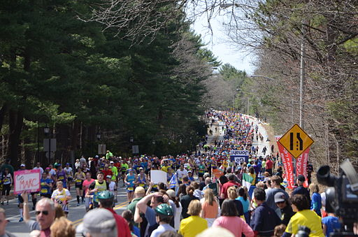 2014 Boston Marathon crowds