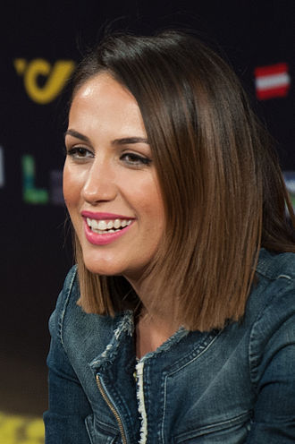 Albania in the Eurovision Song Contest 2015 - Elhaida Dani during a press meet and greet