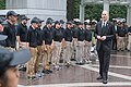 2015 Law Enforcement Explorers Conference standing at attention in downpour.jpg