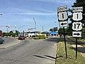 2016-07-24 10 34 12 View north along U.S. Route 1 Business and U.S. Route 17 Business (Princess Anne Street) at U.S. Route 1 (Jefferson Davis Highway) in Fredericksburg, Virginia.jpg