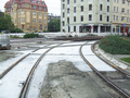 2016-10-16 road works at Berliner Platz (concrete-cast new track).png