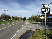 2016-10-29 13 10 49 View north along Virginia State Route 287 (Berlin Turnpike) at Broad Way in Lovettsville, Loudoun County, Virginia.jpg