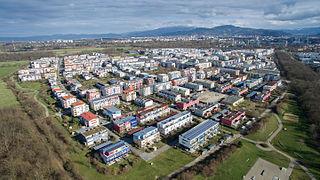 Rieselfeld Stadtteil of Freiburg im Breisgau in Baden-Württemberg, Germany