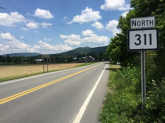 Route 311 (Virginia–West Virginia) - View north along WV 311 in Sweet Springs