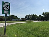 2017-07-13 10 57 28 View east along Virginia State Route 272 (Quay Road) at Virginia State Route 189 in Suffolk, Virginia.jpg