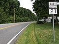 2017-08-11 18 55 55 View east along Maryland State Route 21 (Tolchester Beach Road) at Maryland State Route 445 (Tolchester Road) in Tolchester Beach, Kent County, Maryland.jpg