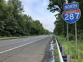 Harding Township, New Jersey - I-287 northbound in Harding Township