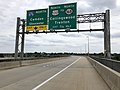 2018-10-02 13 45 04 View east along New Jersey State Route 76C (Walt Whitman Bridge Connector) between Interstate 76 and Interstate 676 (North-South Freeway) in Camden, Camden County, New Jersey.jpg