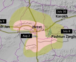 Fall of Herat 2021 Taliban capture of Herat and battle