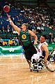 221000 - Wheelchair basketball Troy Sachs dives - 3b - 2000 Sydney match photo.jpg