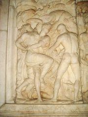 2739 - Firenze - Baccio Bandinelli - Rilievo del monumento a Giovanni delle Bande Nere - Foto Giovanni Dall'Orto, 27-Oct-2007