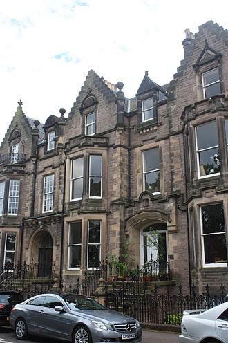 Robert Gibb - Gibb's home at 2 Bruntsfield Crescent, Edinburgh