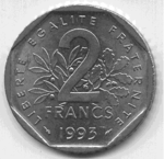 2 Francs Jean Moulin 1993 avers.png