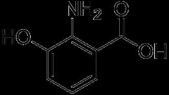 3-Hydroxyanthranilic acid - Image: 3 Hydroxyanthranilic acid