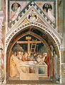30 Maso di Banco and Taddeo Gaddi 1335-40 Fresco from Santa Croce, Florence.jpg