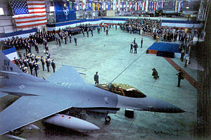 Aviano Air Base - Activation ceremony for the 31st Fighter Wing at Aviano AB, Italy, on 1 April 1994.
