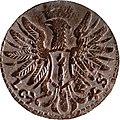 3 Pfennige, Landesdenkmalamt Berlin, Ausgrabung U5, 813, 899 – 1462, Rückseite.jpg