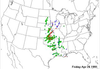 Andover tornado outbreak April 1991 tornado outbreak