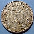 50 Reichspfennig coin of the Third Reich.jpg