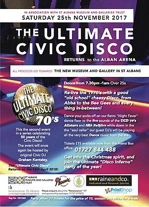 Alban Arena - Image: 50th Civic Disco Ad