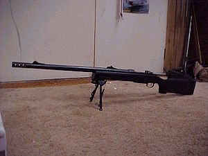 Elephant gun - CZ 550 .585 caliber rifle.