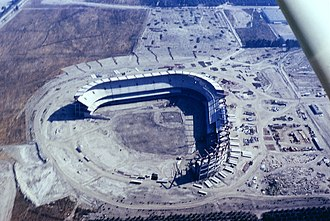 Angel Stadium - Anaheim Stadium under construction, May 1965