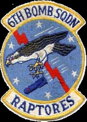 6th Reconnaissance Squadron - Emblem of the SAC 6th Bombardment Squadron