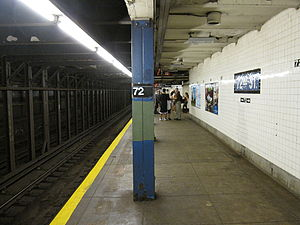 72nd Street (IND Eighth Avenue Line) - Downtown platform on the lower level
