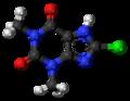 8-Chlorotheophylline 3D ball.png