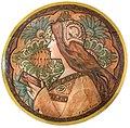 81 - Méditation - Peinture sur porcelaine - Jane Atché (dessin) Bourotte-françois (peinture) - Musée du Pays rabastinois.jpg