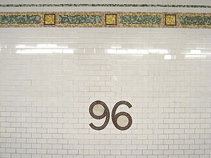 96th Street (IRT Broadway–Seventh Avenue Line) - Modern wall mosaics