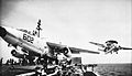 A-3B and E-1B launching from USS Midway (CVA-41) in 1962.jpg