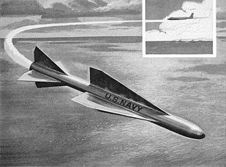 Douglas F6D Missileer - Artist's conception of the AAM-N-10 Eagle missile