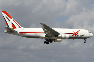 ABX Air - An ABX Air Boeing 767-200 on short final to Miami International Airport in 2013.