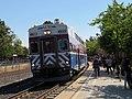 ACE train arriving at Fremont-Centerville station, July 2018.JPG