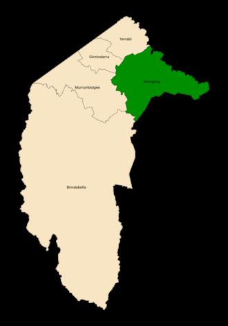 Kurrajong electorate - Location of Kurrajong (dark green) in the ACT