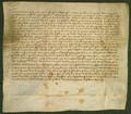 AGAD Konwent augustynow w Wieluniu przyrzeka odprawianie 5 mszy rocznie w intencji Henryka Talmana, burmistrza wielunskiego i jego zony Kunegundy.png